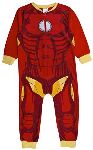 Kinder Mädchen Fleece-Character Einteiler Schlafanzug PJ 's Größe UK 1–8Jahren Gr. 7-8 Jahre, Ironman - (Up Kinder Dress Iron Man)