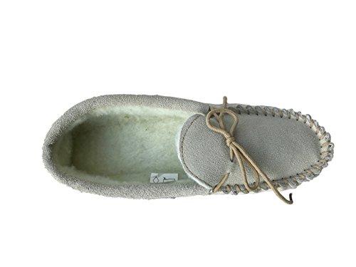 KURU , Damen Hausschuhe Beige/Grey Fur