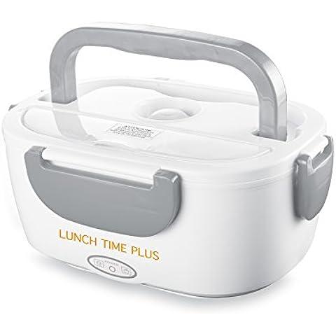 MACOM Just Kitchen 855C Lunch Time Plus Portavivande Elettrico con Sistema Riscaldante a Temperatura Costante, Colore Bianco