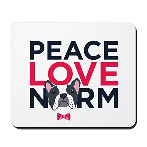 CafePress–Peace, Love, Norm–Rutschfester Gummi-Mauspad, Gaming Maus Pad