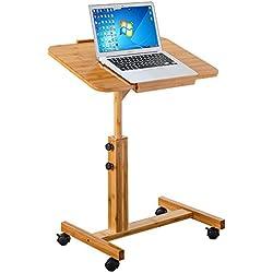 Computertisch-Multipurpose-Mobiler Bettstuhl Tisch , Sofa Seite Notebook Laptop Schreibtisch , Holzständer höhenverstellbar abschließbar 4 Rollen & Holzplatte (2 Größen) (größe : A)