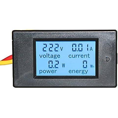 Küssen U Display LCD digitale DC 6.5-100V 20A con retroilluminazione Tensione Corrente test Energia voltmetro Test Gauge Tester Monitor di corrente con incorporato Shunt