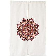 """icegrey chino étnico patrón de Totem Estilo Japonés Noren cortina y cortina de puerta 33.5""""x 47.2"""", poliéster, Hosta Flower, 33.5x47.2 Inch"""