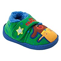 Boys Official Hey DUGGE Character Touch Fastening Slip ON Slippers UK Size 5-10