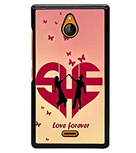 printtech Love Forever Quote Back Case Cover for Nokia X2 Dual SIM , Nokia X2 RM-1013 , Nokia X2DS