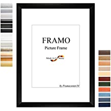 FRAMO 35mm Cadre photo sur mesure pour photos de 28 x 22 cm, couleur : Blanc Matt, cadre fait main en MDF doté d'un verre synthétique antireflet incassable et d'un fond résistant, largeur du cadre : 35 mm, dimensions extérieures : 33,8 cm x 27,8 cm