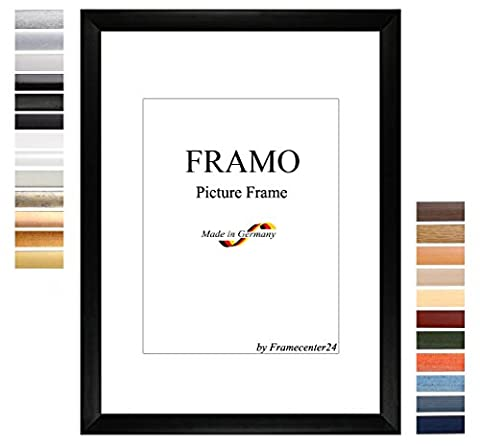 FRAMO 35mm custom dimensioned 60 x 47 cm frame, color: Black Matt, Handmade MDF frame with break resistant anti-reflex artificial glass pane and sturdy MDF backing; frame width: 35 mm, outside dimensions: 65,8 cm x 52,8