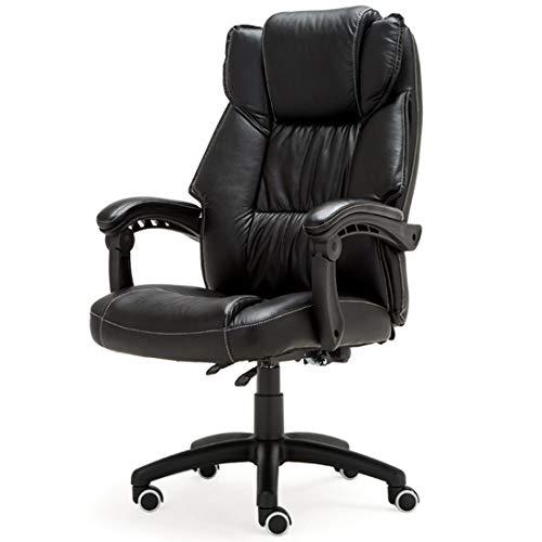 ADCK Fauteuil de bureau exécutif à haut dossier, fauteuil de bureau en cuir ergonomique pour ordinateur de bureau Fauteuil de direction ergonomique et pivotant à hauteur de capacité de 250 kg