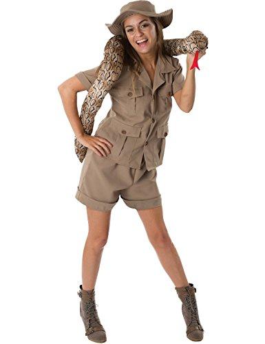 (Damen Britischen Dschungel Safari Mädchen für Tier Kostüm Verkleidung Large)