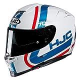 Motorradhelm HJC RPHA 70 GAON MC21, Weiss/Blau/Rot, M