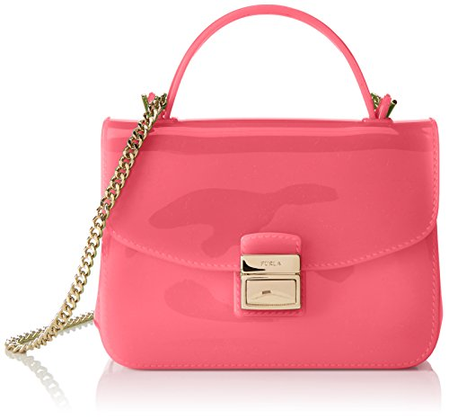 Furla Damen Candy Sugar Mini Crossbody Schultertaschen, Pink (Rose), 17x12x6 cm
