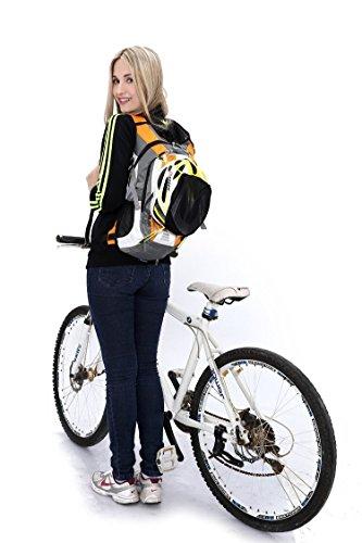 West Biking 2016nuovo arrivo bicicletta zaino per escursioni, viaggi, arrampicata, campeggio, equitazione borsa impermeabile unisex Bags + 2L senza BPA & FDA idratazione vescica, Ragazzi unisex ragaz Yellow