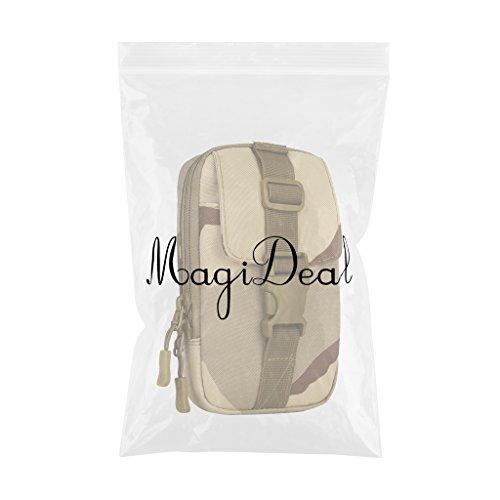 MagiDeal Sacchetto Universale Marsupio A Spalla Da Telefono MOLLE In Nylon Con Cinghia Per Viaggio Trekking Campeggio - Jungle Digital Sand Camo