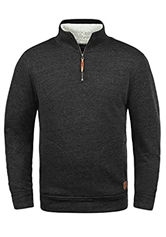 BLEND Tedius - Sweat-Shirt - Homme, taille:L, couleur:Charcoal (70818)