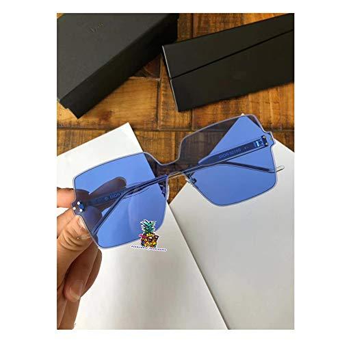 day spring online shop Men and Women Frameless Candy Color Lens Sunglasses for Homme 0219S-blue