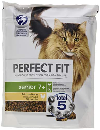PERFECT FIT Katzenfutter Trockenfutter Senior 7+ Reich an Huhn, 4500 g