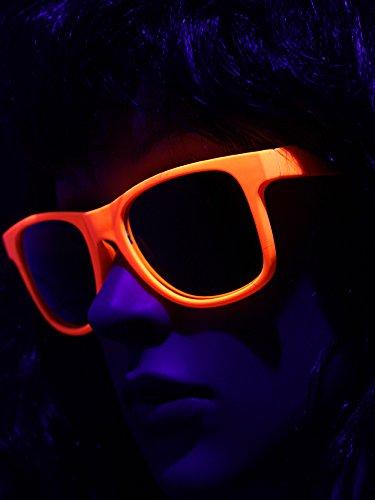 UV Schwarzlicht Neon Brille orange