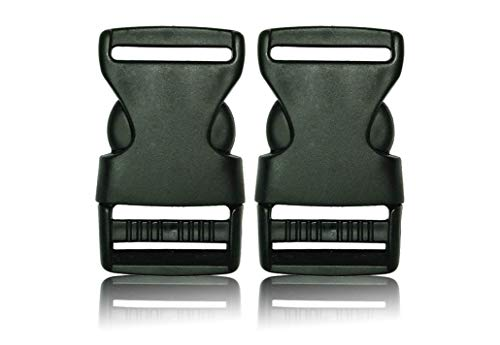 Schnalle 2X20MM - Double Side Release Schnallen Clips- Steckverschluss - Steckverschluss, Kunststoff Klickverschluss, Klippverschluss, Steckschnalle, Ersatzschnalle, Klippverschlüsse für Rucksack