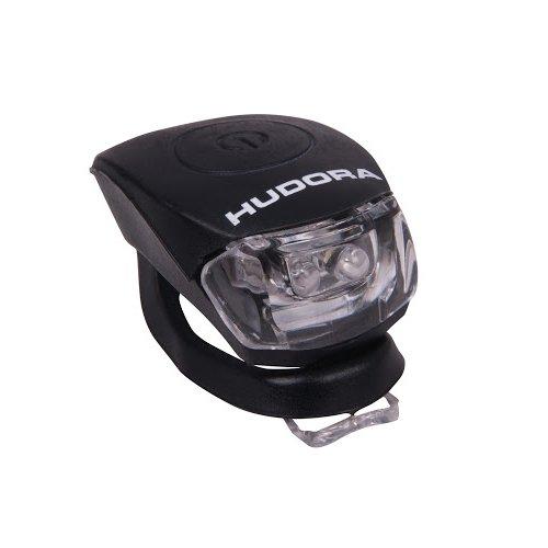 HUDORA LED Licht Shine, schwarz, LED Lampe inkl. Batterien und 2 Funktion: Blink- und Dauerlicht
