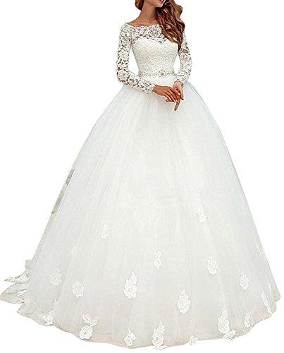 Elegantes Brautkleid mit langen Ärmel