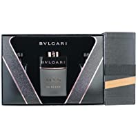 Bvlgari Man in Black Set Regalo Eau de Parfum, 60ml & Balsamo After Shave, 40 ml & Shampoo, 40 ml & Gel Doccia, 40 ml & Borsa