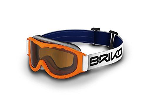 Briko Yoshi–Skibrille für Kinder, Orange, Einheitsgröße