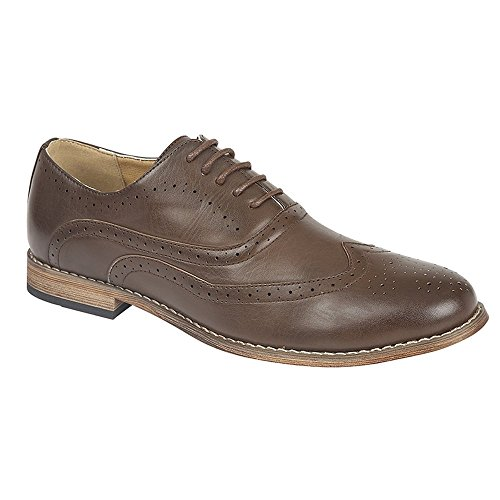 Barratts Mens Irwell Brown Lace up Brogue Shoe 7