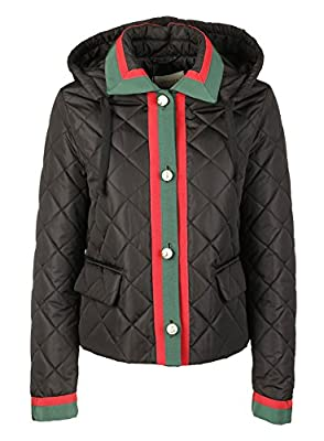 Gucci Women's 476145ZJZ2361060 Black Polyamide Outerwear Jacket from GUCCI