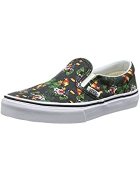 Vans - Classic Slip-on, Zapatillas Niños-Niñas, Multicolor (Chambray/Parrot/true White), 31.5 EU