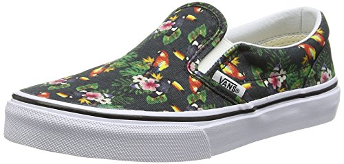 Vans Unisex-Kinder Classic Slip-On Low-top, Mehrfarbig (Chambray/Parrot/True White) 29 EU