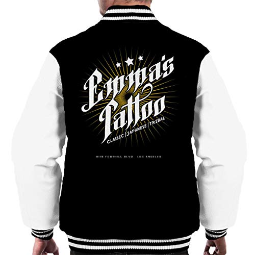 Emmas Tattoo Once Upon A Time Men's Varsity Jacket (A Upon Once Time Jacket)