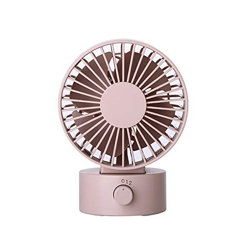 Libertroy Compact Desktop Energy Saving Fan Super Quiet wiederaufladbar Tabletop Mini tragbar, pink - Tragbare Tabletop-fan