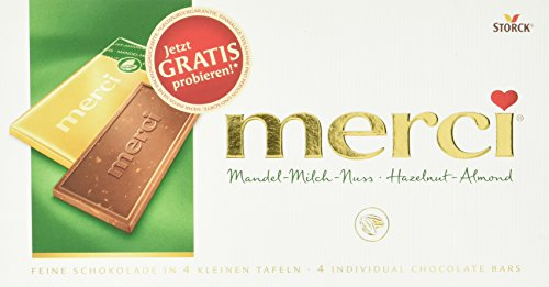 Storck Merci Tafelschokolade Mandel-Milch-Nuss, 100 g