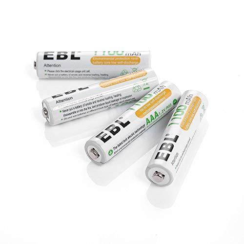 EBL Micro Akku AAA Akku 1100mAh mit Aufbewahrungsbox wiederaufladbare Batterie 4 Stück