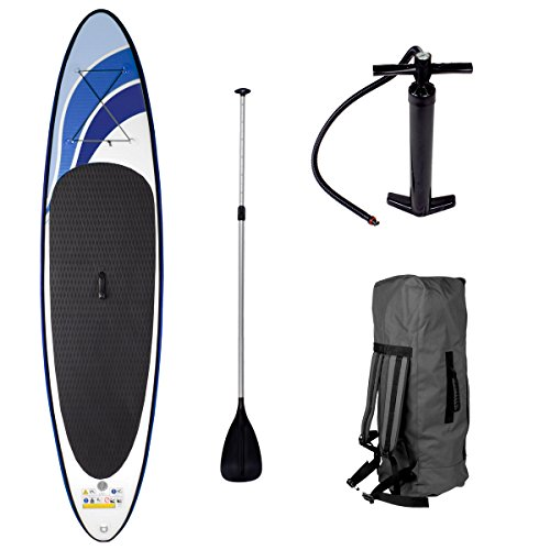 SUP Board Stand up Paddling Surfboard GLIDER 300x76x15cm aufblasbar Alu-Paddel Hochdruck-Pumpe Transportrucksack Paddle