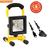 10W LED Security Lights Rechargeable Portable Work Light IP65 Waterproof Floodlight Outdoor Emergency