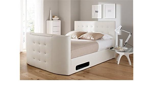 Superb Atlantis Leather Ottoman Tv Bed White King Size Ottoman Machost Co Dining Chair Design Ideas Machostcouk