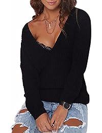 Amazon.it: maglione scollo a v 4121322031: Abbigliamento
