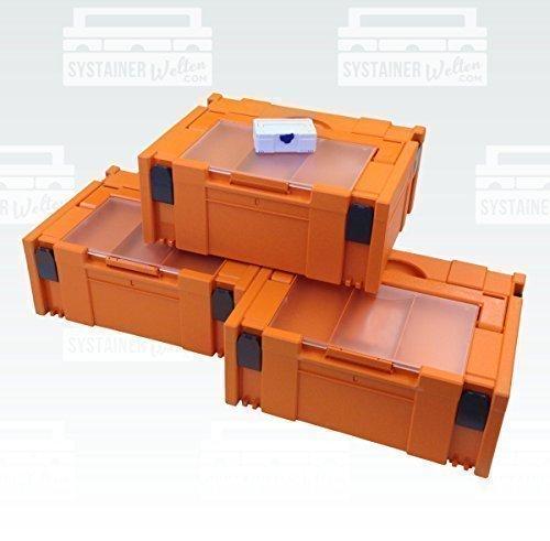 Preisvergleich Produktbild Tanos Festool BTI Hitachi Systainer Classic Gr2 Deckelfach orange 3er Set Monatsaktion
