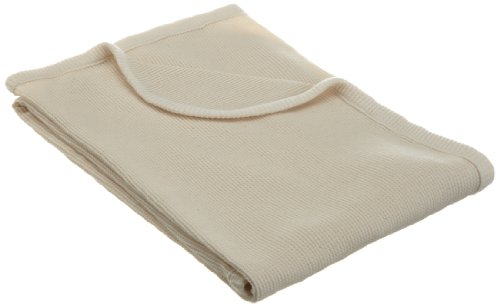 American Baby Company Thermo-Wickeltuch, Bio Baumwolle, Natur (Thermal-baby-decke)