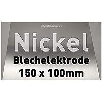 Nickel-Blech 100 x 150 mm, Reinnickel, Anode/Elektrode (10 x 15 cm) für Nickelelektrolyt/Galvanik, Vernickeln