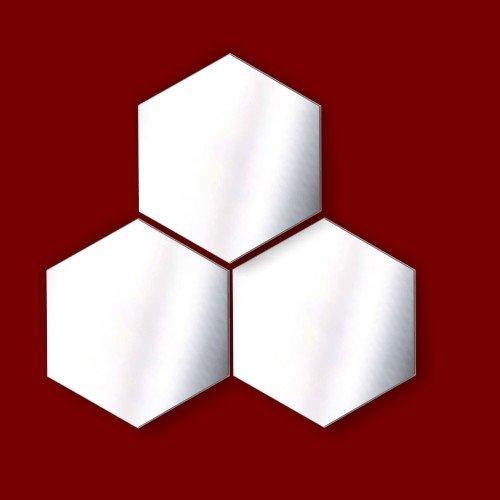Decorativa-AdornosNavidad-Pack-de-3-espejos-de-acrlico-hexagonal-5-cm-cada