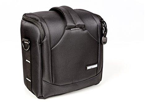 BODYGUARD UNO SLR M > kleine Kameratasche für Spiegelreflexkameras mit Objektiv bis 18cm Gesammthöhe + 1 Zubehörteil (Objektiv, Blitz) z.B. Canon EOS 70D 77D 80D 200D 1300D 700D 750D 760D 77D 800D Nikon D3300 D3400 D5100 D5300 D5500 D5600 D7200 D7500
