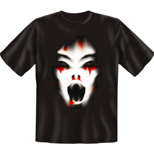 Halloween T-Shirt: Cry erhältlich in den Größen S, M, L, XL, XXL, 3XL, 4XL und 5XL - Ausgewählt: XXL / Schwarz