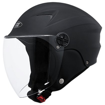 Studds Dame Half Face Helmet (Matt Black, S)