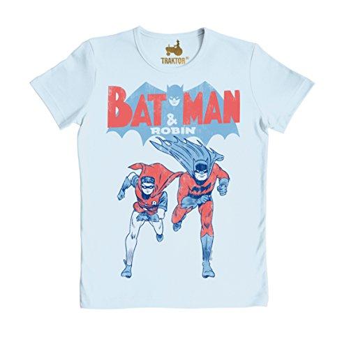 Logoshirt Unisex T-Shirt BATMAN AND ROBIN T-SHIRT SLIMFIT -