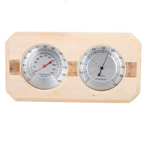 Famus Hölzerne doppelte Uhr-Anzeigen-Sauna-Raum-Qualitäts-Thermometer-Hygrometer-Holzverkleidung