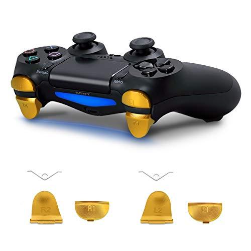 kwmobile Playstation Slim Controller 4 Pro / PS4 (2. Gen) Pulsanti di ricambio - R1 R2 L1 L2 Tasti in alluminio per Joystick Playstation Slim Controller 4 Pro / PS4 (2. Gen) - metallici