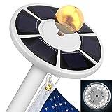 Jinxuny 1pc Luz LED para Postes de Bandera con energía Solar 26LED Asta de Bandera Iluminación de iluminación Nocturna de 15 a 25 Ft Parte Superior