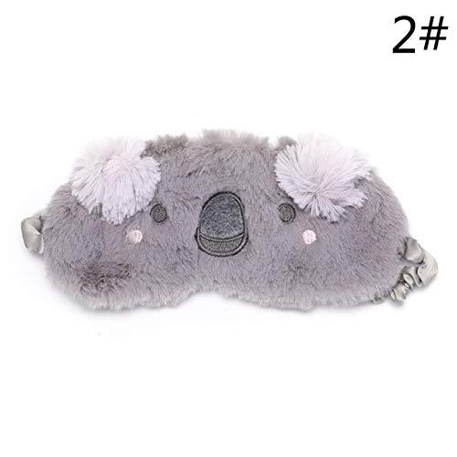 Augenmaske zum Schlafen niedlich, süße Tier Kaninchen Bär Katze Auge Abdeckung, Eyepatch Winter Cartoon Schlafmaske, für Jungen und Mädchen Geburtstag Urlaub Geschenke 8